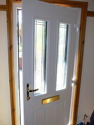Composite door interior view