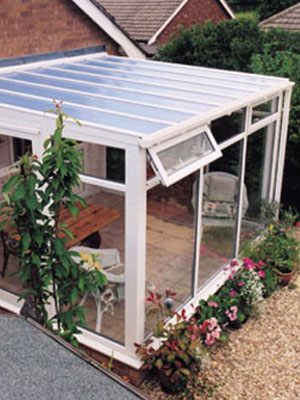 Lean to conservatory sun room