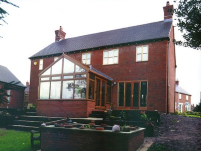 Brown Edwardian Conservatory