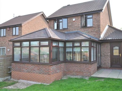 Conservatory with replacement roof
