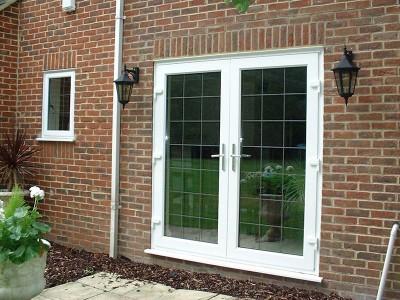 White uPVC Patio Doors