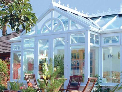 White T-Shaped Conservatory